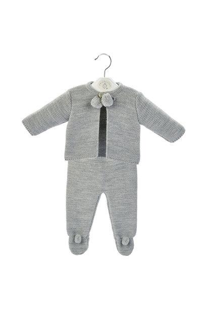 Grey Baby Pom Suit