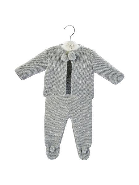 Dandelion Grey Baby Pom Suit