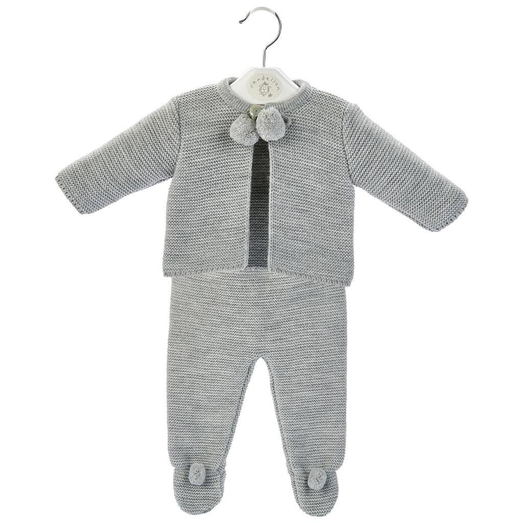 Grey Baby Pom Suit-1
