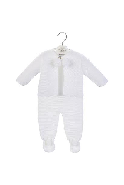 White Baby Pom Suit