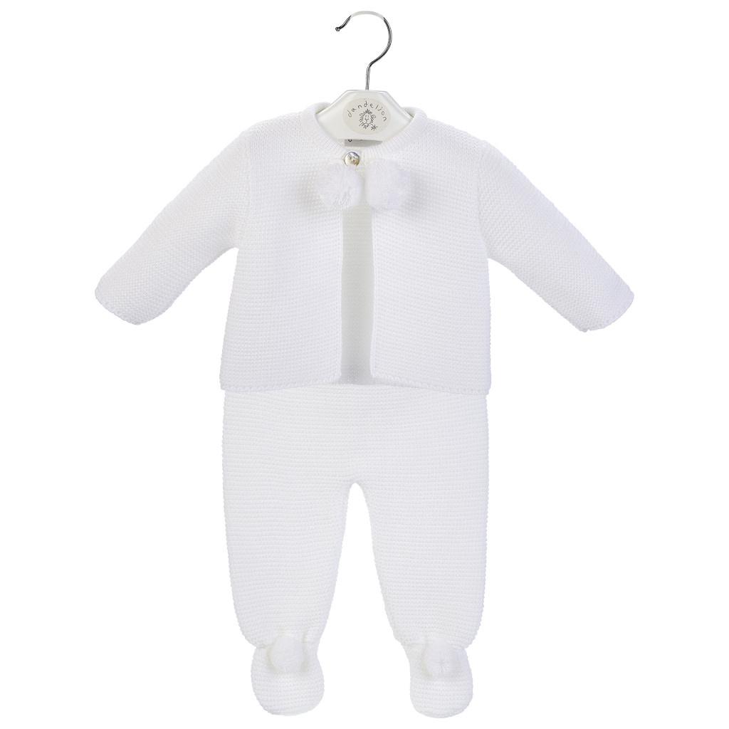 White Baby Pom Suit-1