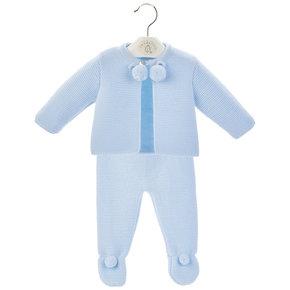 Blue Baby Pom Suit