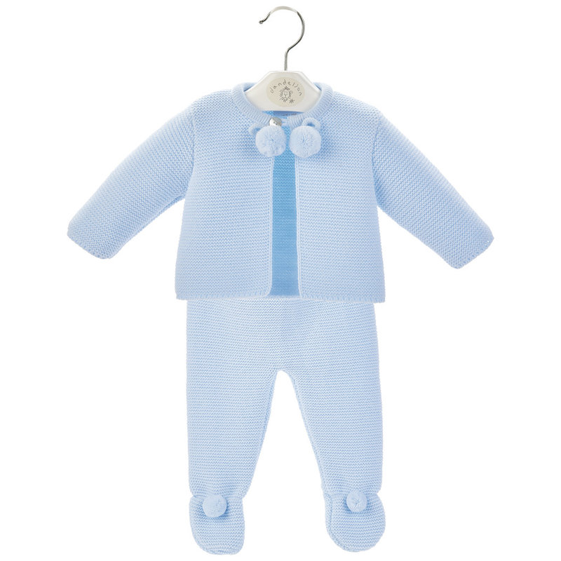 Dandelion Blue Baby Pom Suit