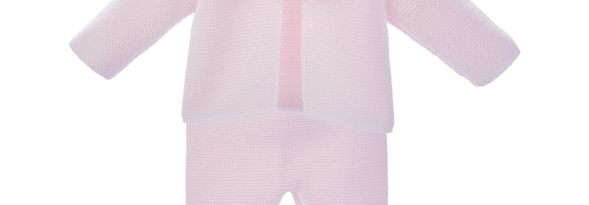 Pink Baby Pom Suit