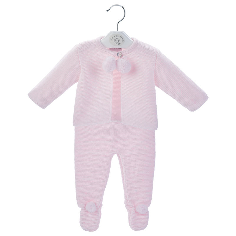 Dandelion Pink Baby Pom Suit