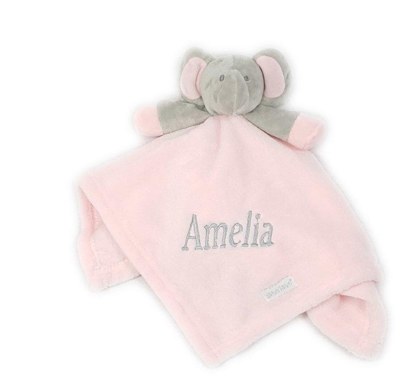 Baby Town Pink Elephant Comfort Blanket