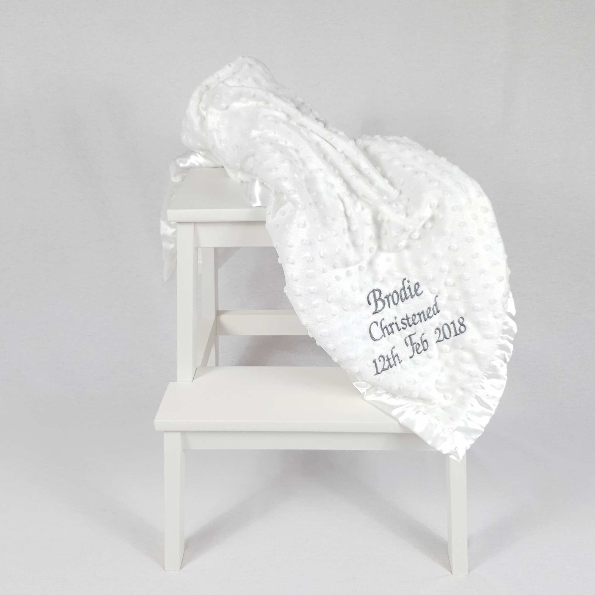 Baby Dimple Blanket White-3