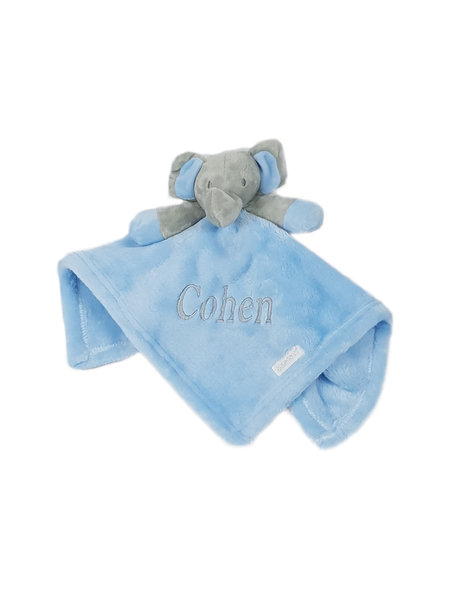 Baby Town Blue Elephant Comfort Blanket