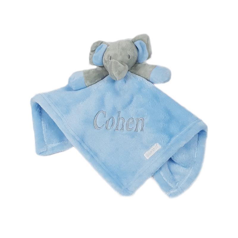 Baby Town Blue Elephant Comfort Blanket