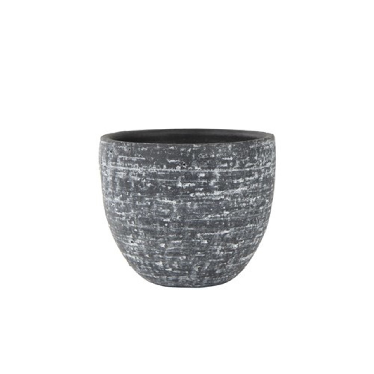 Pot stone raw anthracite D18 H16