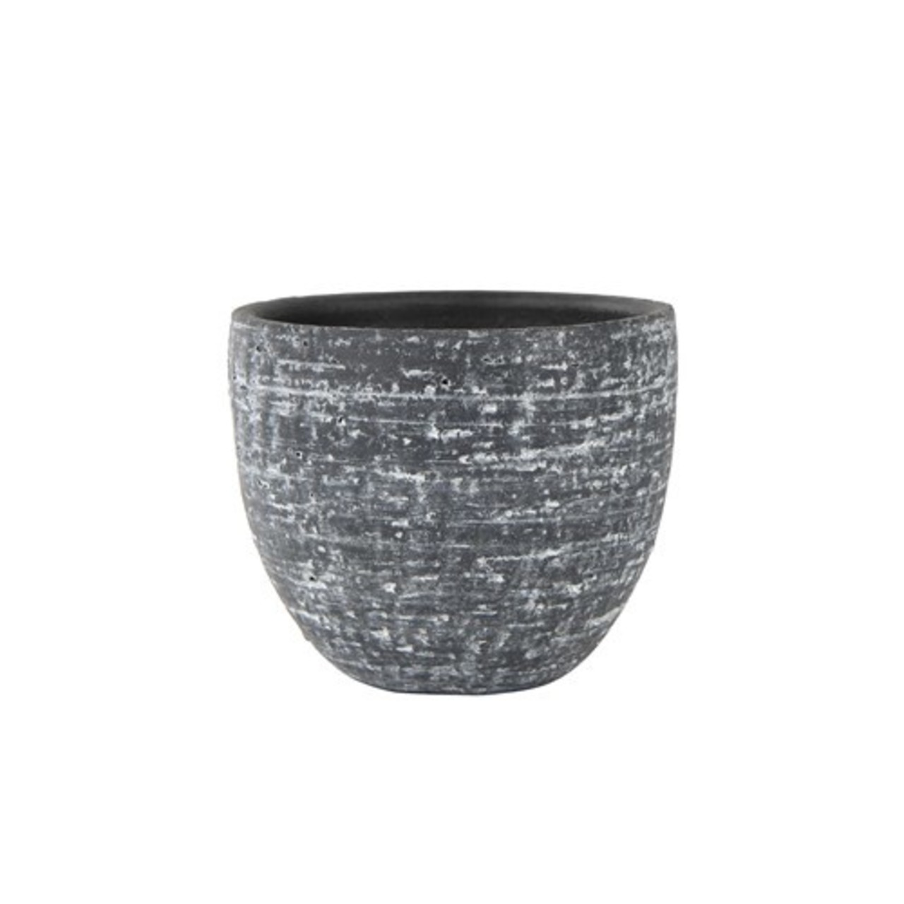 Pot stone raw anthracite D22 H20