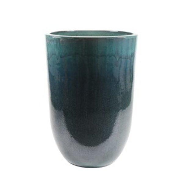 Vaas glazuur ocean blue D52 H79