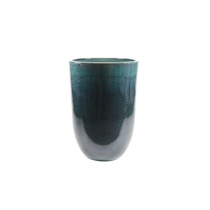 Vaas glazuur Vaas glazuur ocean blue D52 H79