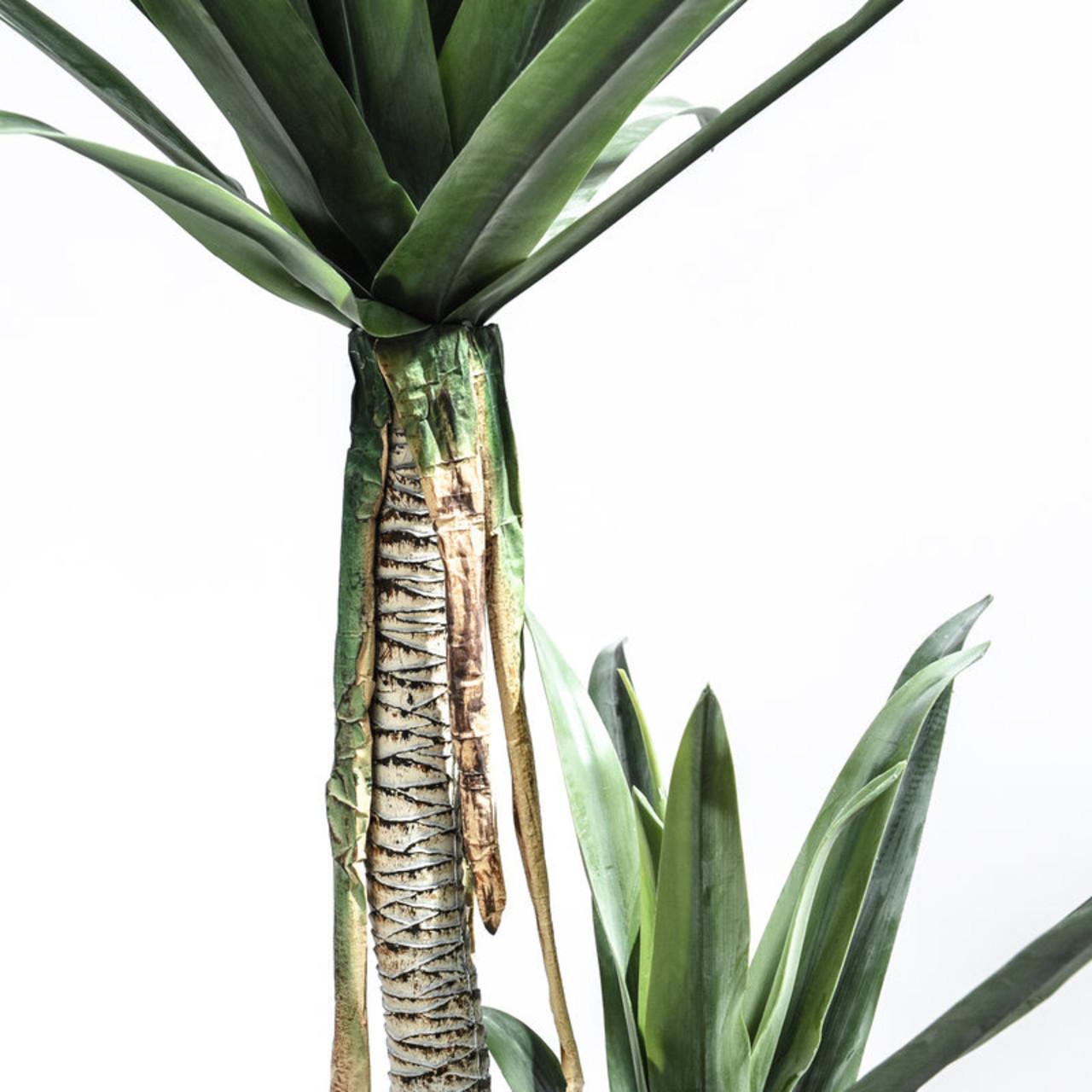 Kunst Agave op 2 stammen 163 cm
