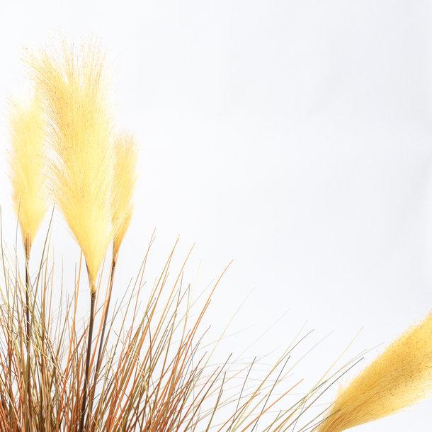 Kunst Rietgras herfstkleurige pluimen 137 cm