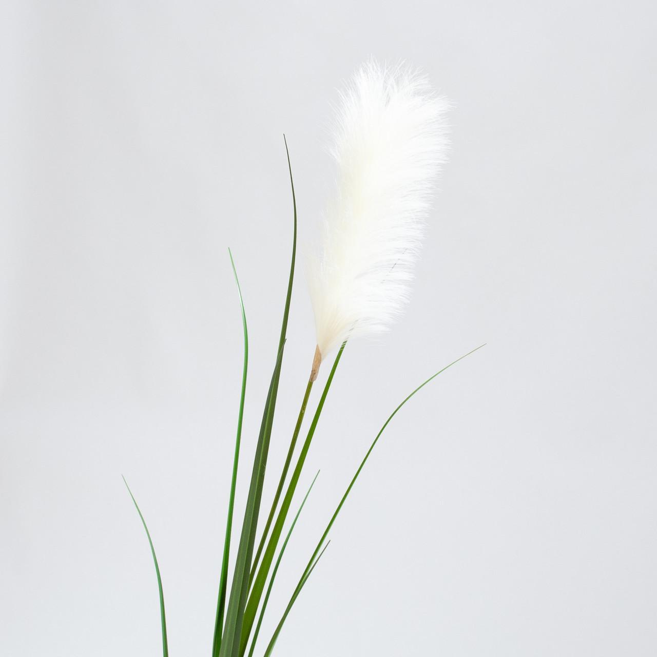 Pampasgras witte kunst pluim 175 cm