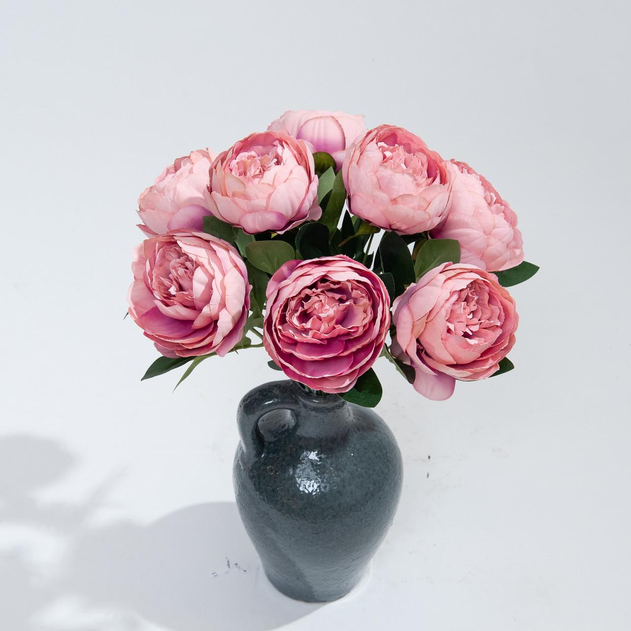 Kunstboeket Pioenrozen 43 cm oud-roze