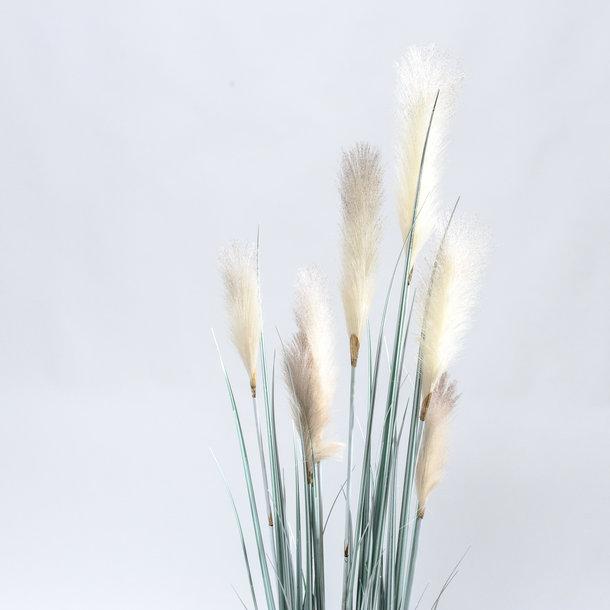 Kunst Rietgras witte pluimen 150 cm