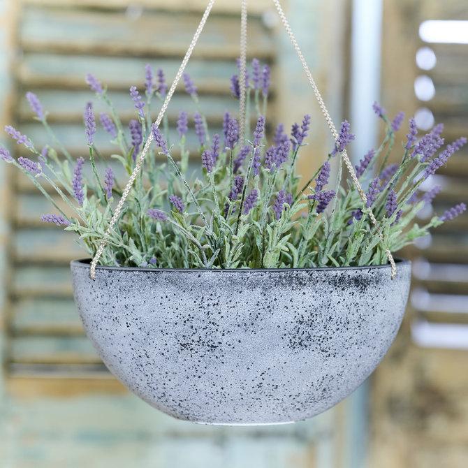 Lavendel Hangpot met kunst lavendel