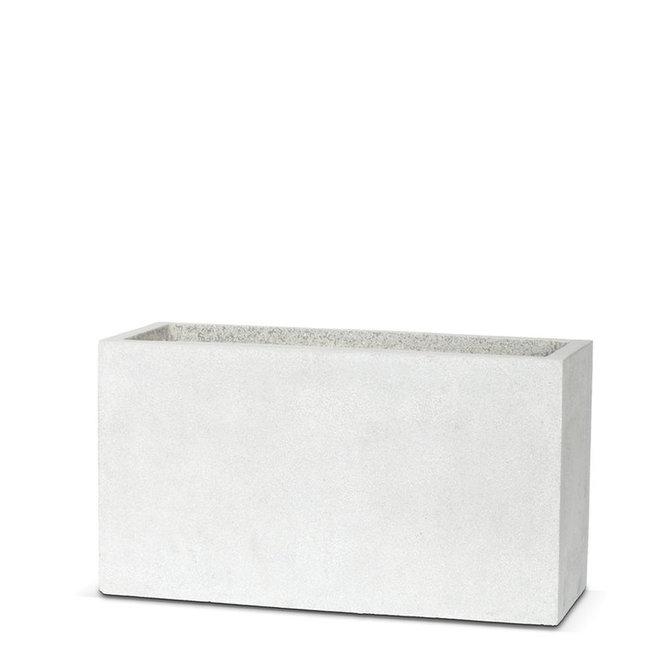 Terrazzo Bak Bak rechthoek 100x40x55 lichtgrijs