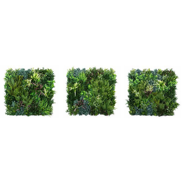 Groene wandpanelen, type Outdoor (90 x 90 cm)