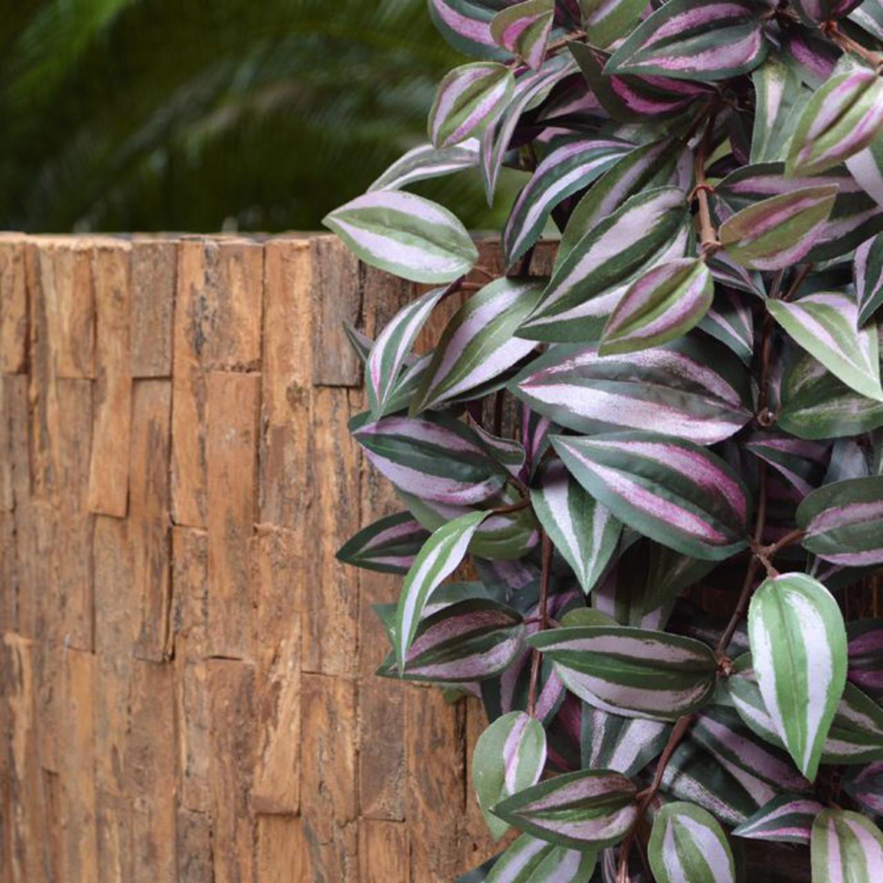 Tradescantia kunst hangplant 100 cm paars