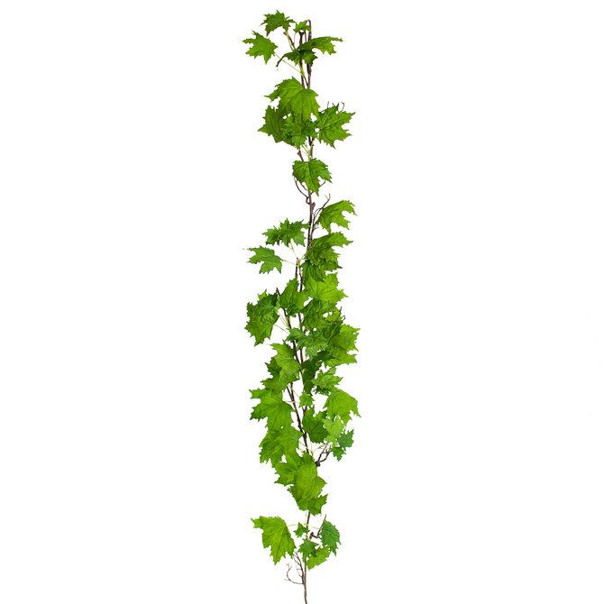 Maple Maple kunst guirlande deluxe 180 cm groen