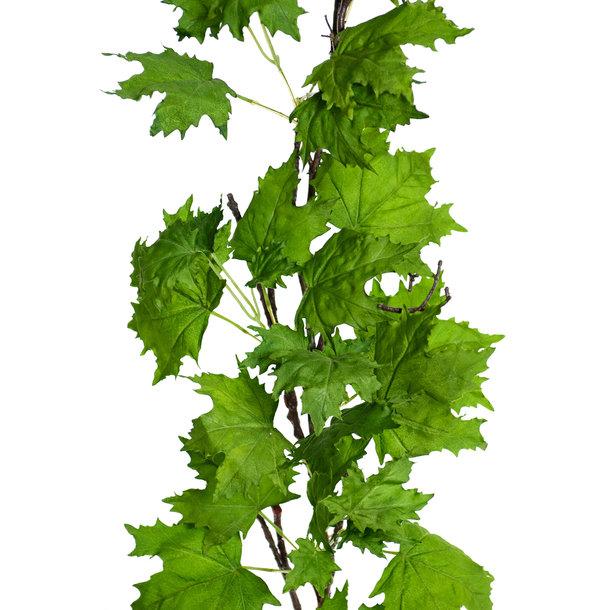 Maple kunst guirlande deluxe 180 cm groen