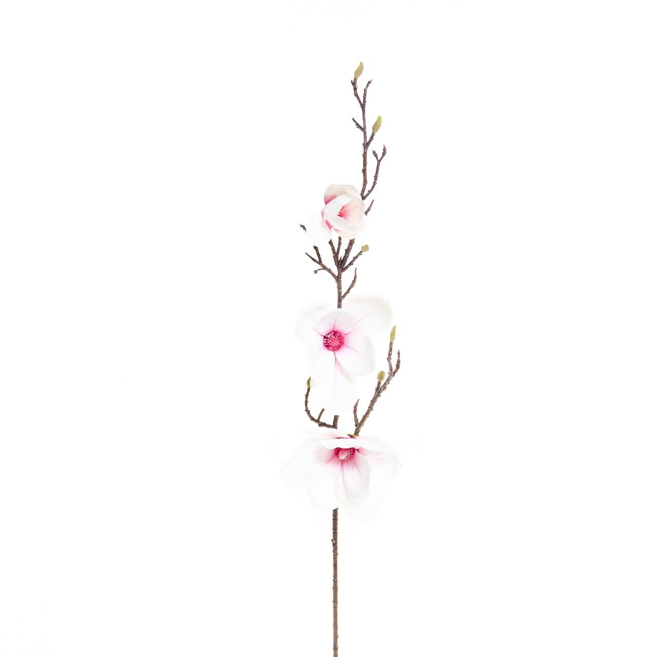 Kunst Magnoliatak 93 cm wit/roze