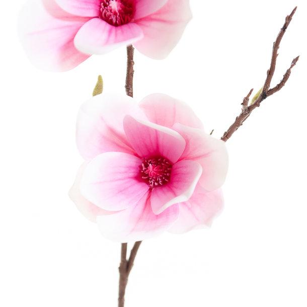 Kunst Magnoliatak 93 cm roze