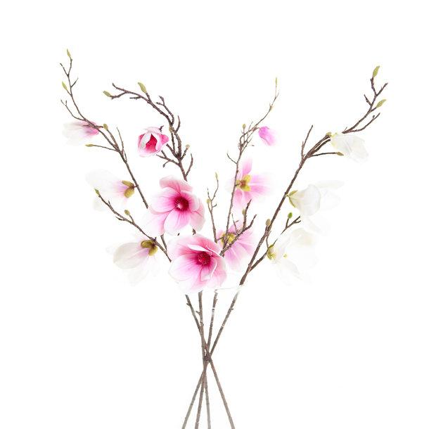 Kunst Magnoliatak 93 cm paars