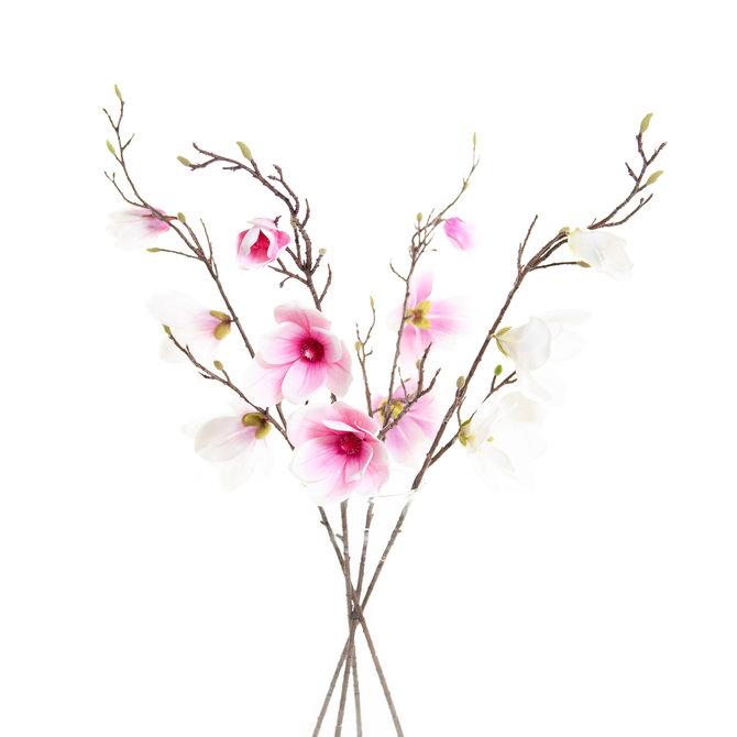 Magnolia Set van 4 Kunst Magnoliatakken 93 cm in 4 kleuren