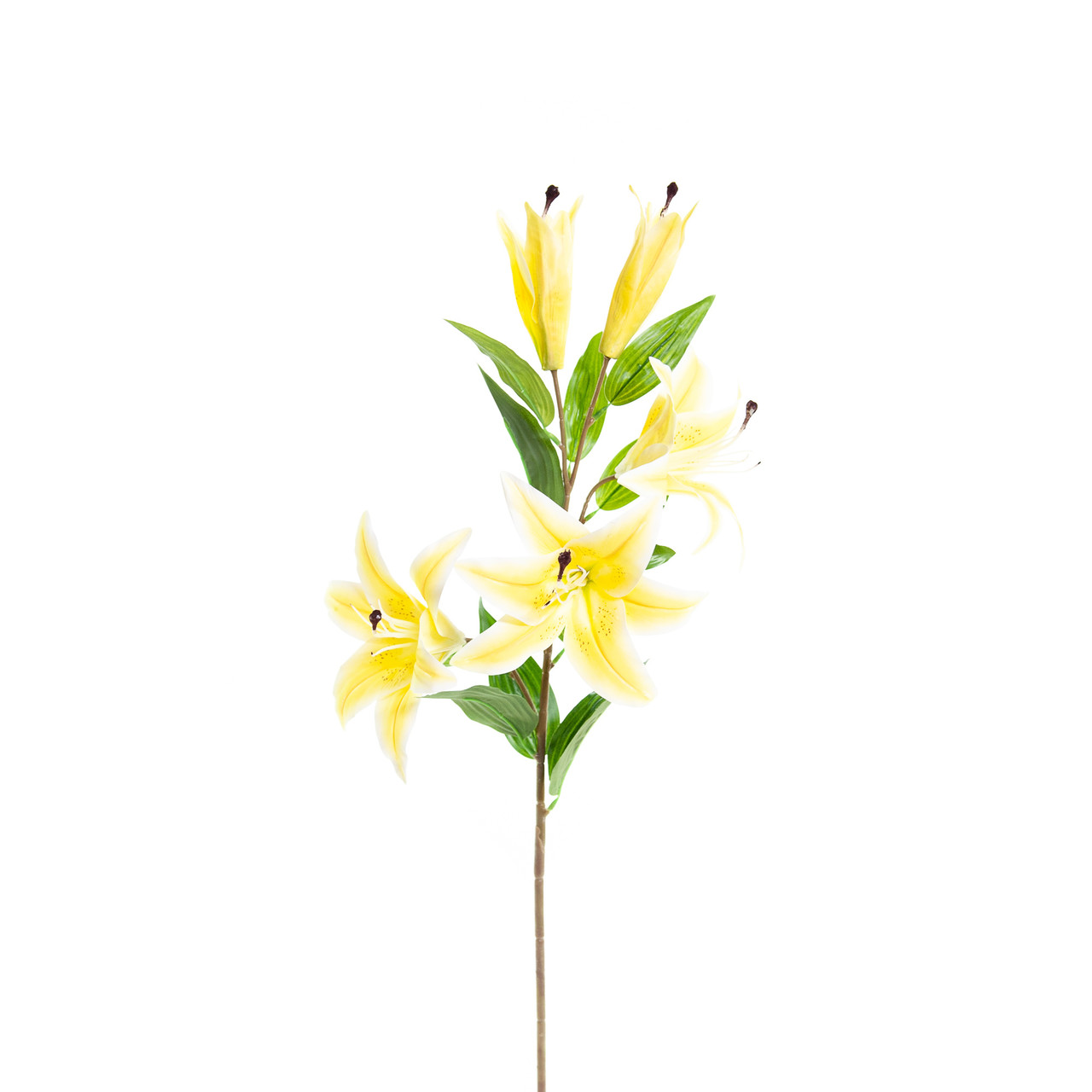 Kunst Lelie 85 cm geel/wit