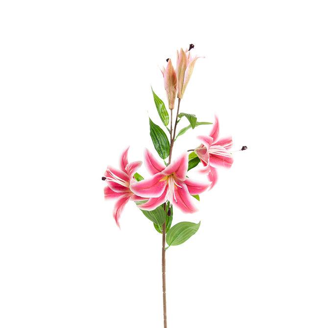 Lelie Kunst Lelie 85 cm fuchsia roze