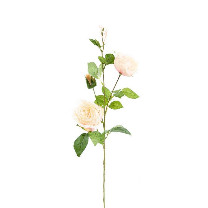 Rozen Kunst Rozentak 75 cm wit/roze