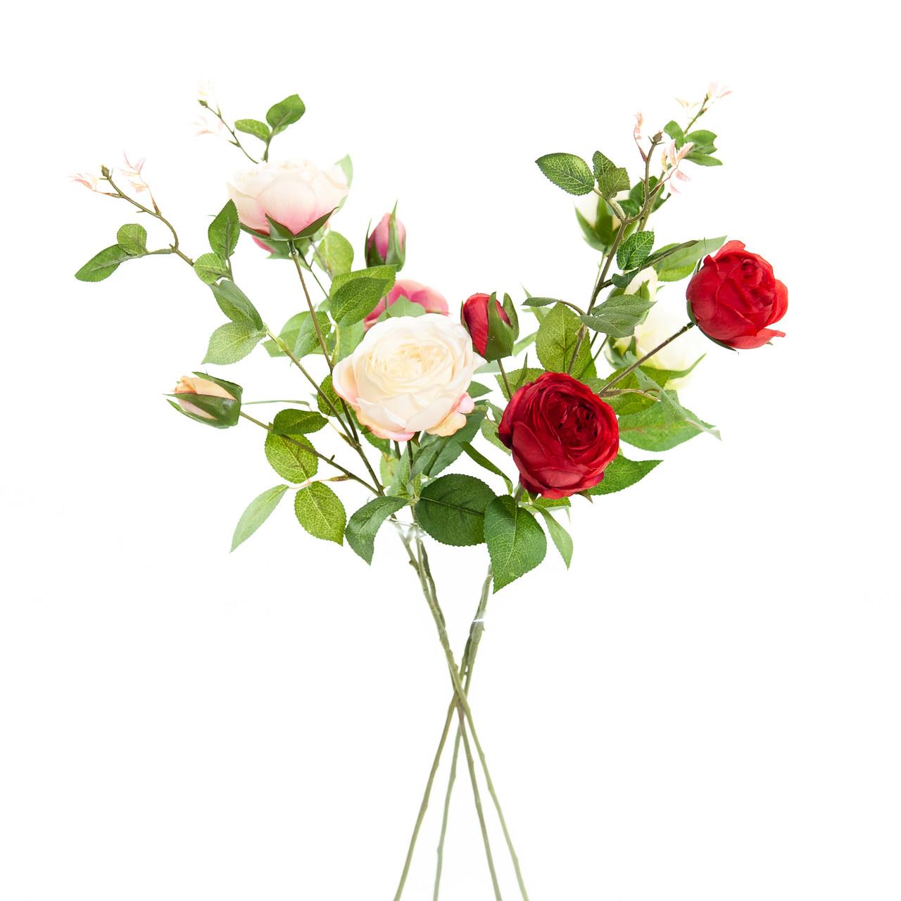 Kunst Rozentak 75 cm wit/roze