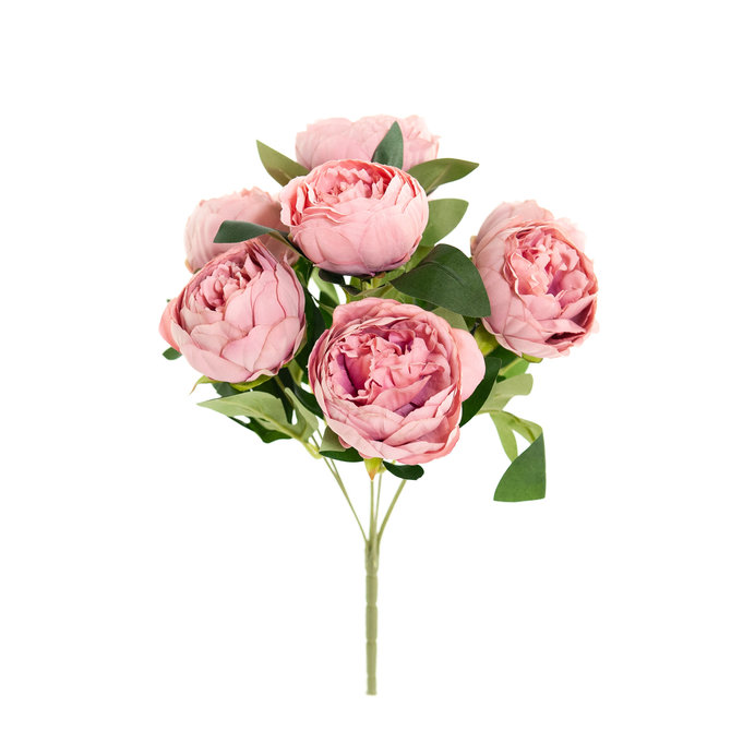 Rozen Kunstboeket Pioenrozen 43 cm oud-roze