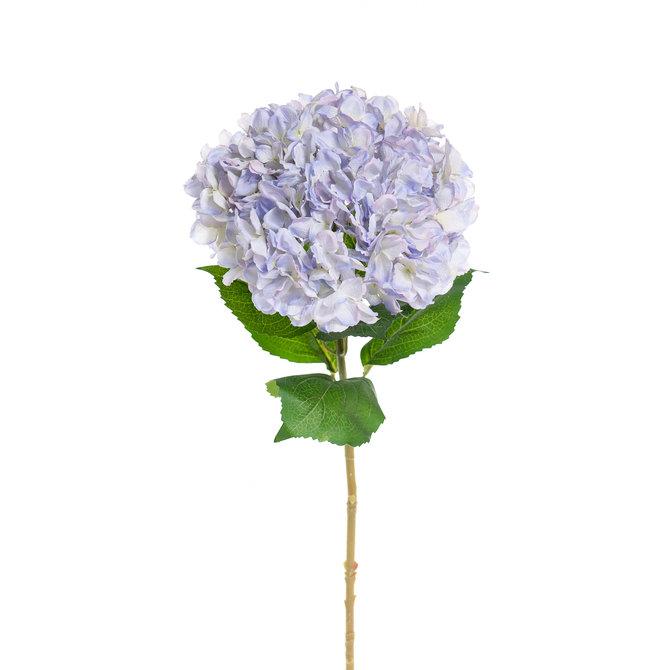 Hortensia Kunst Hortensia op steel XL blauw 93 cm