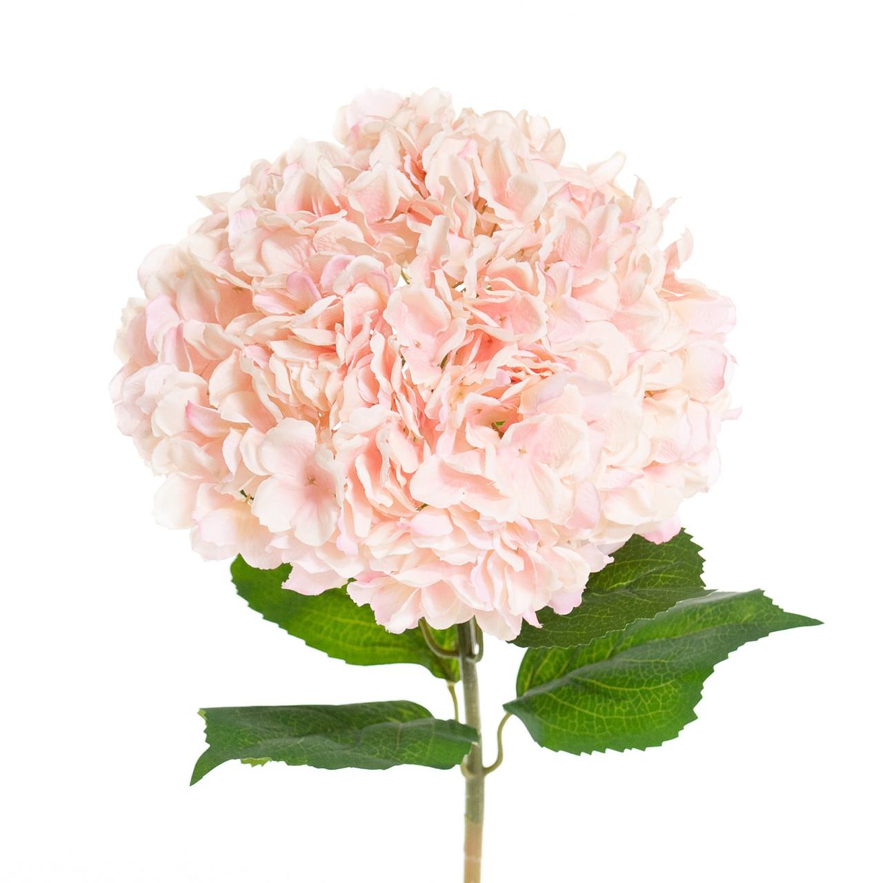 Kunst Hortensia op steel XL roze 93 cm