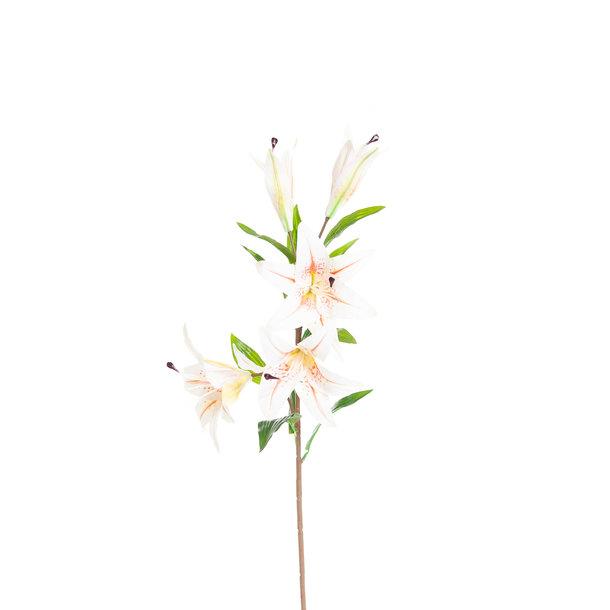 Kunst Lelie 85 cm wit/roze/geel