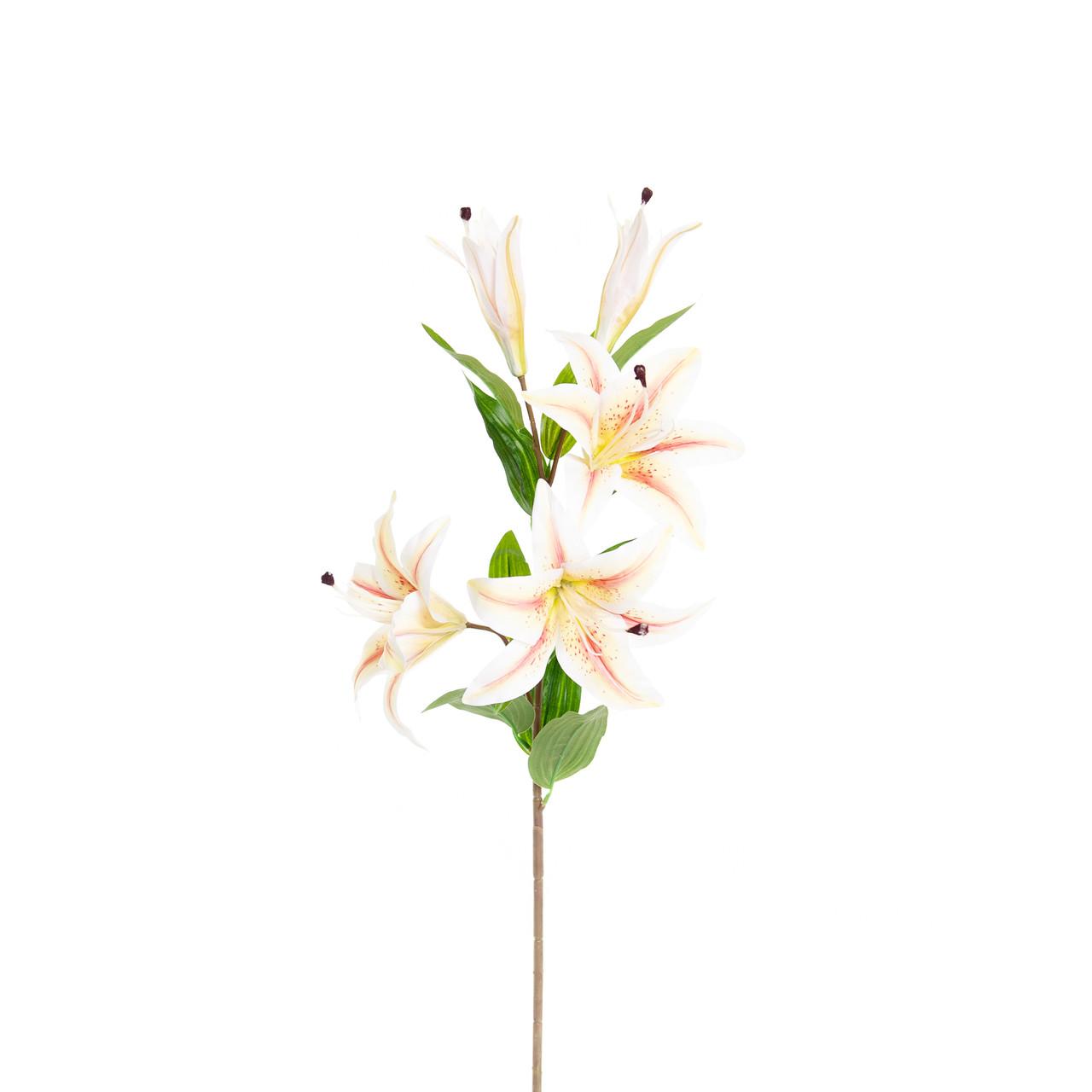 Kunst Lelie 85 cm vanille/roze/wit