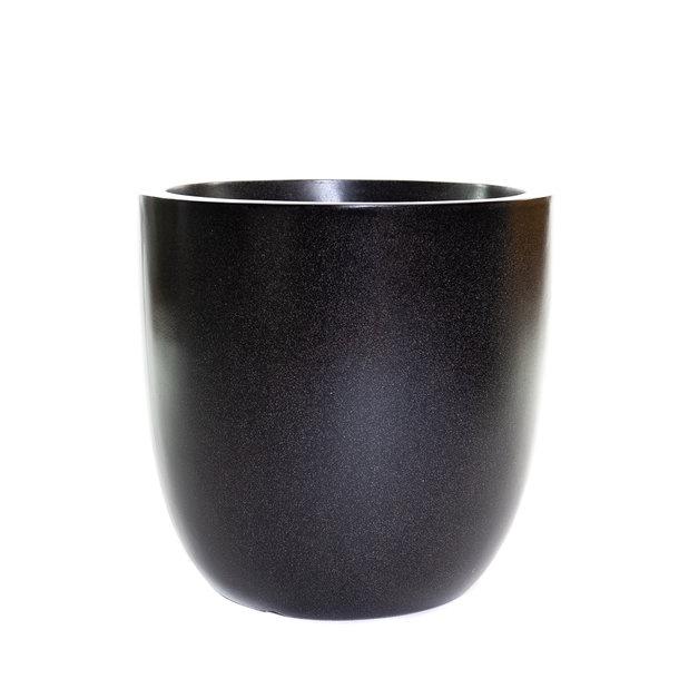 Pot bol 54x54 zwart