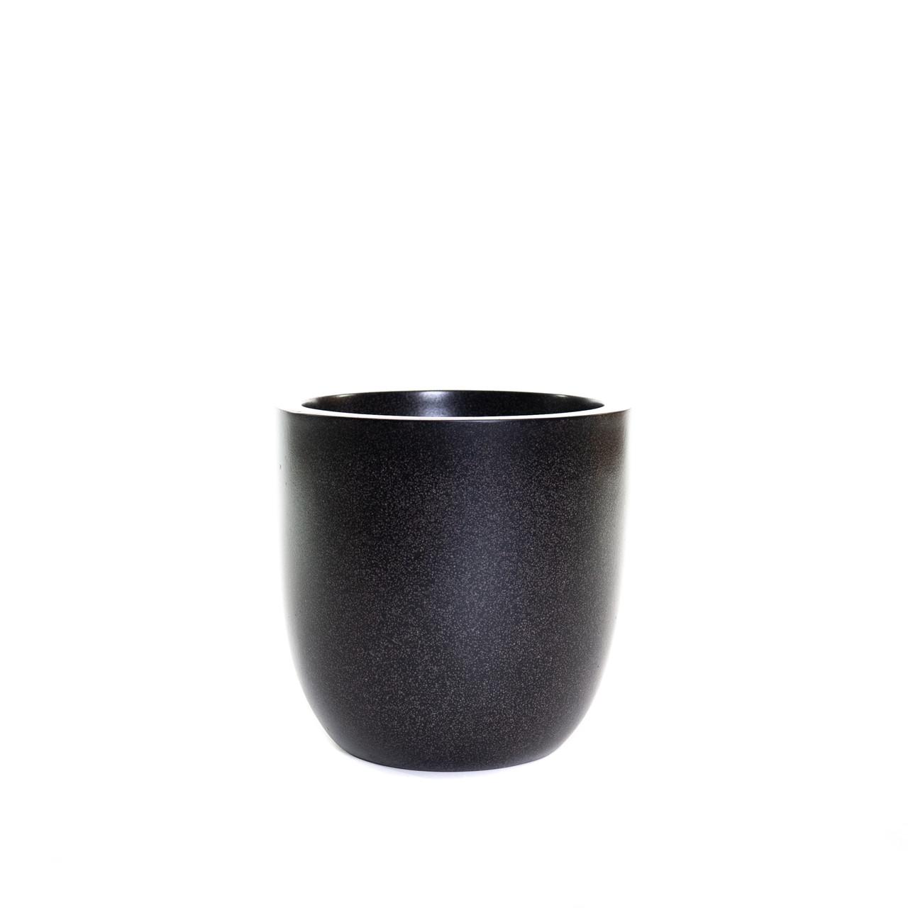 Pot bol 37x37 zwart