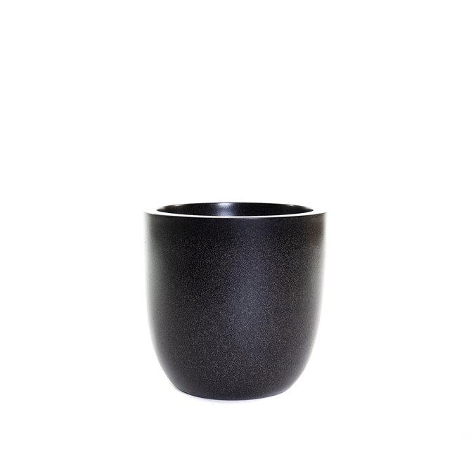 Terrazzo Bol Pot bol 37x37 zwart