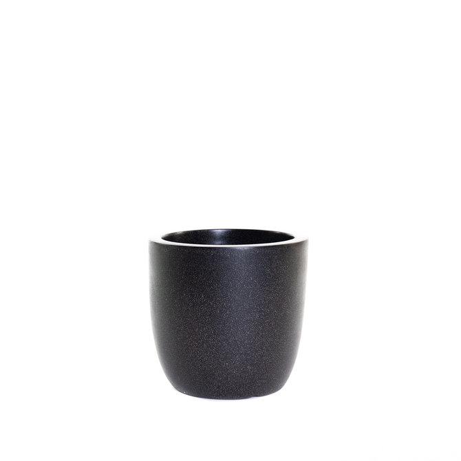 Terrazzo Bol Pot bol 28x26 zwart