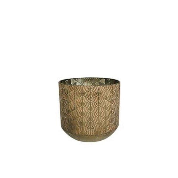 Pot Shiny Brown D28 H27