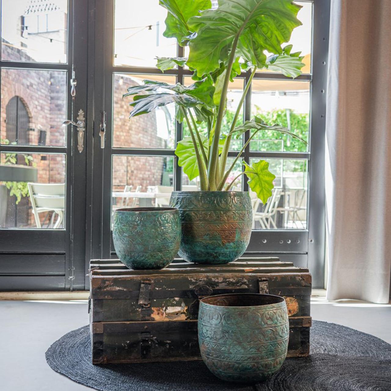Pot Old Blue D39 H32