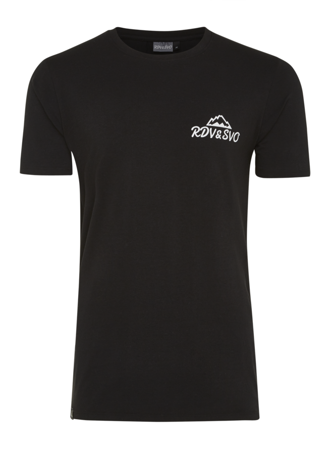 T-shirt slim fit basic zwart