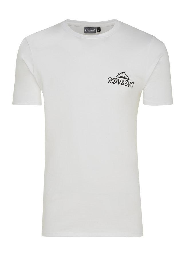 T-shirt slim fit basic wit