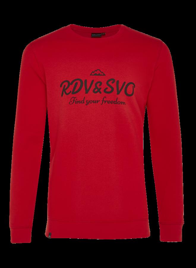 Sweater basic rood